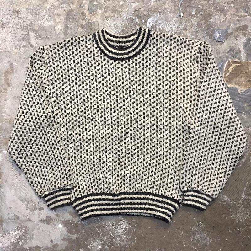 80's NEPTUNE Birds Eye Wool Sweater