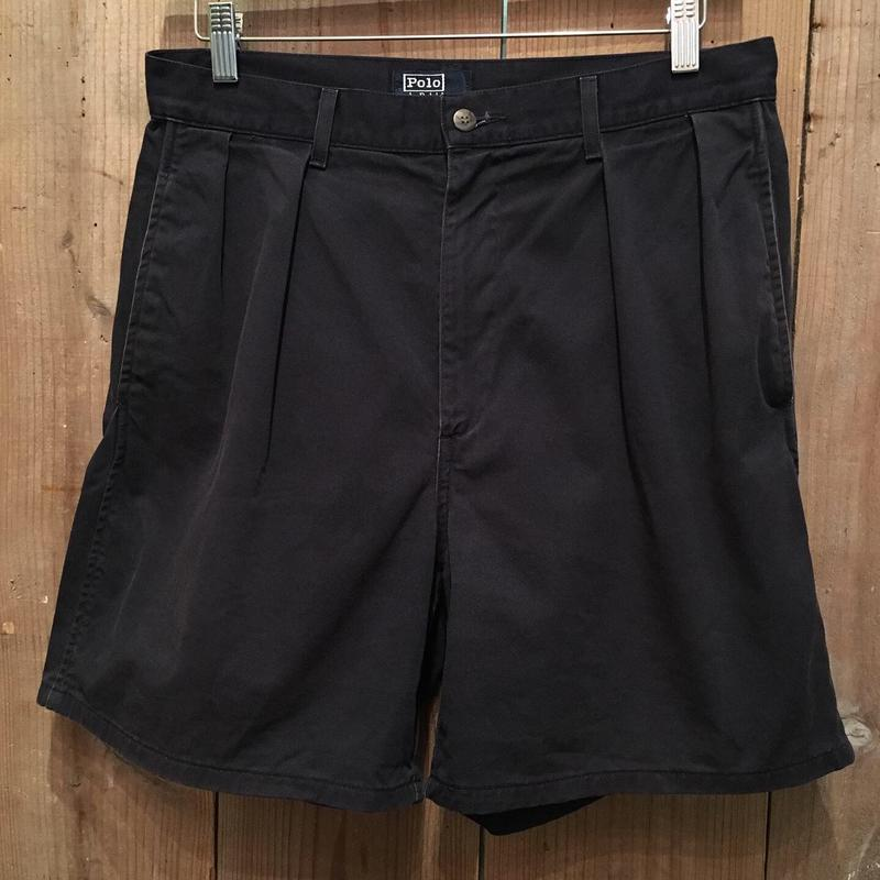 80's~ Polo Ralph Lauren Two Tuck Chino Shorts W : 32