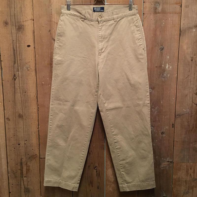 90's Polo Ralph Lauren Chino Pants KHAKI W : 32