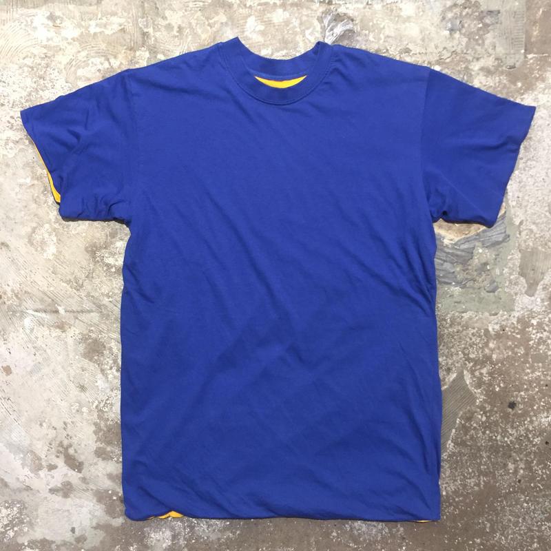 ~90's Unknown Plain Reversible Tee BLUE