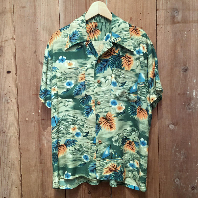 70's Unknown Rayon Aloha Shirt