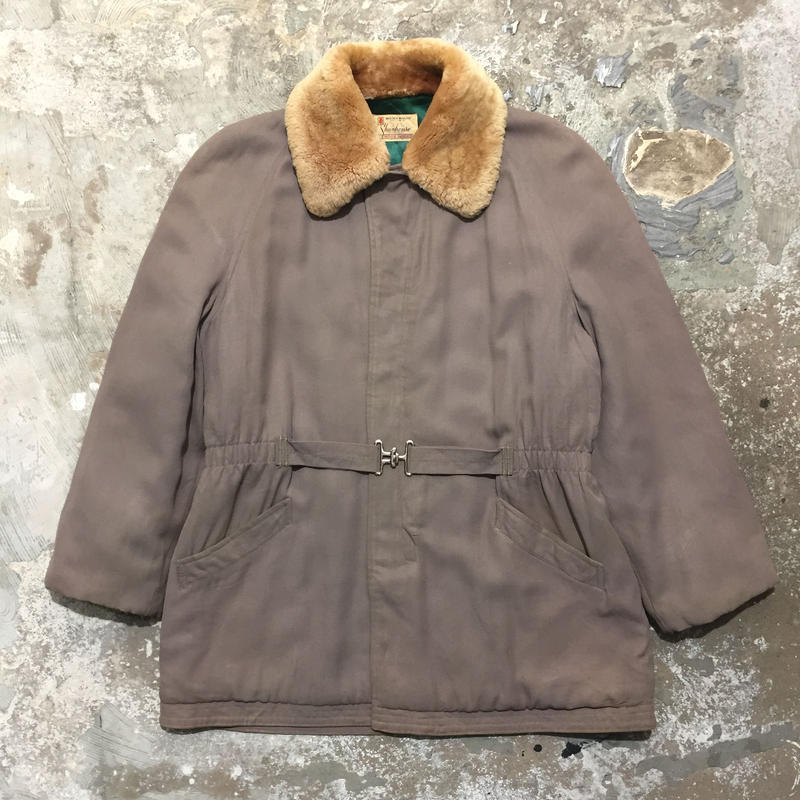 ~60's Shanhouse Fur Collar Gabardine Coat