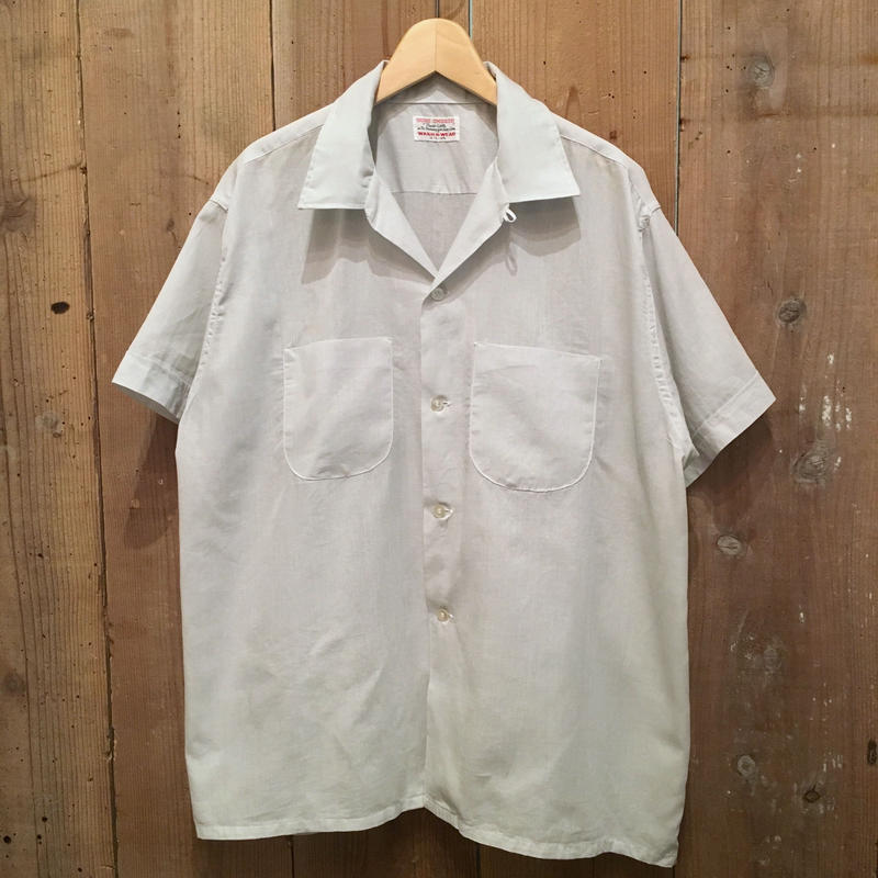 50's~ SURE SMOOTH Open Collar Shirt