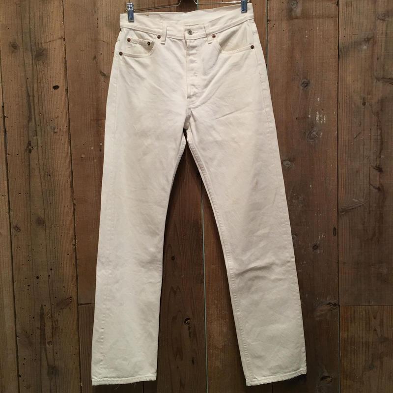 90's Levi's 501 WHITE Denim Pants W:30