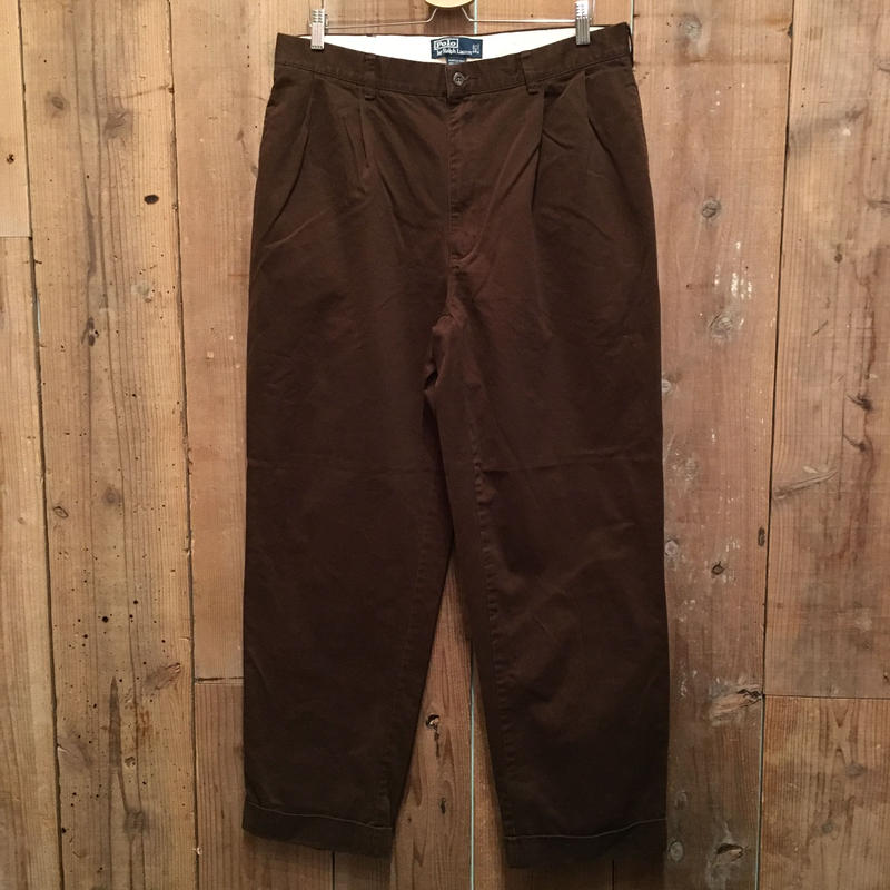 Polo Ralph Lauren Two Tuck Chino Pants D.BROWN  W : 36