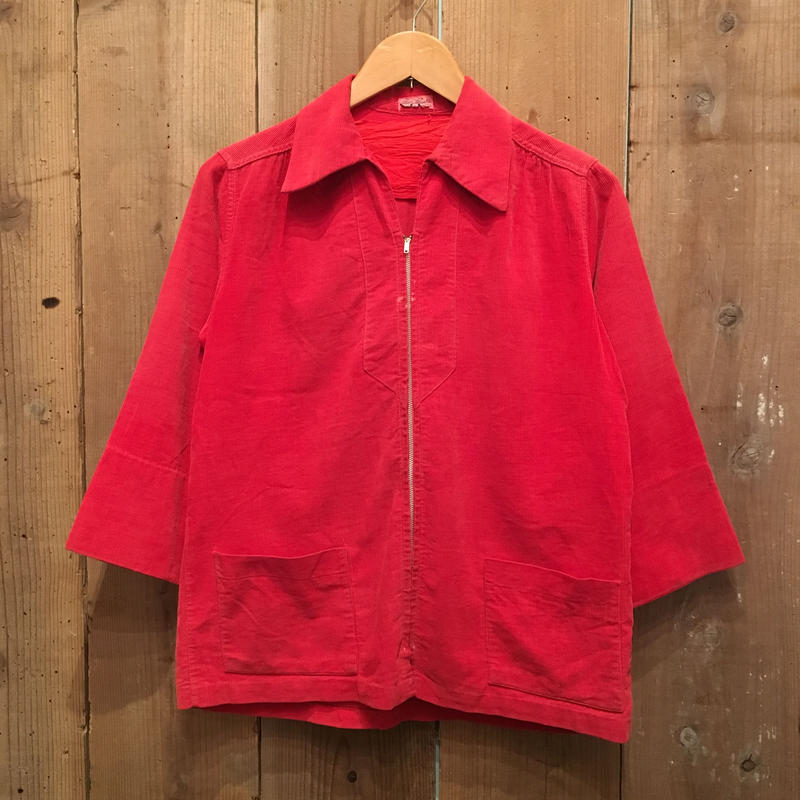 50's Betty Brooks Corduroy Zip Shirt