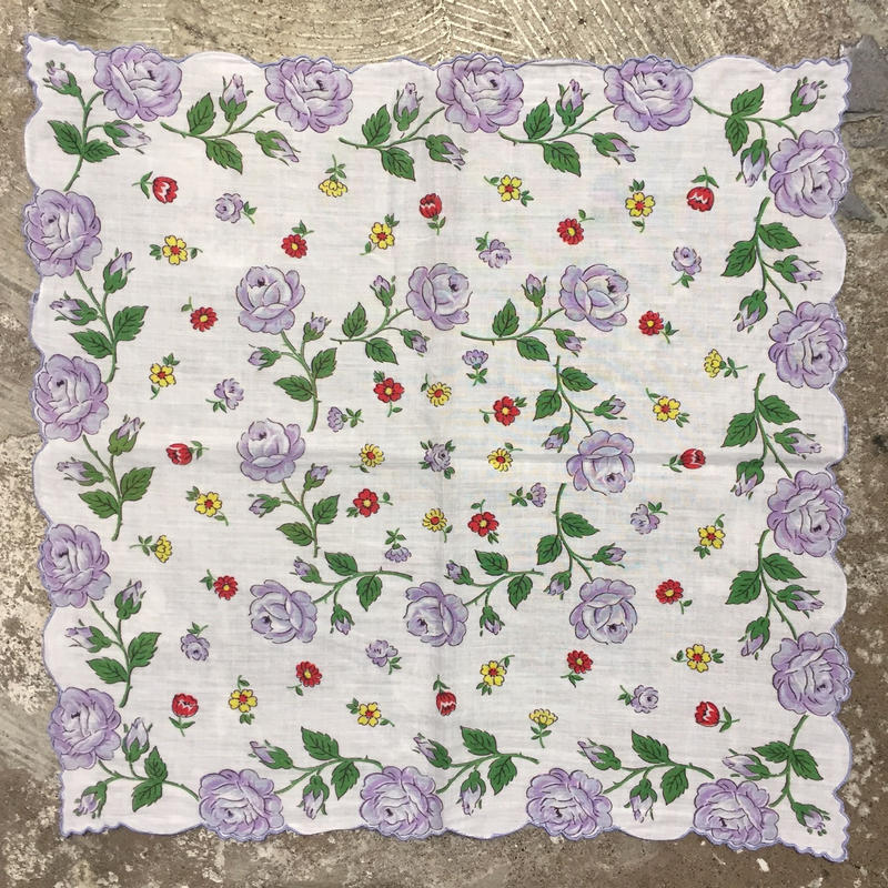 Flower Printed  Handkerchief  #2