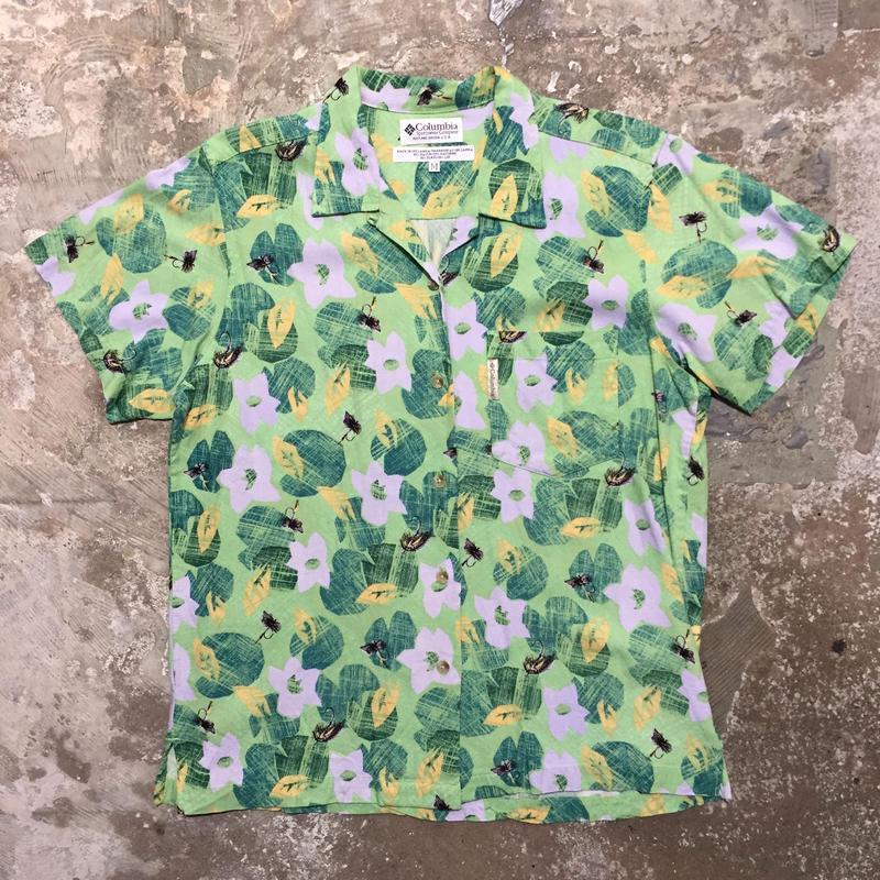Columbia Rayon×Linen Aloha Shirt
