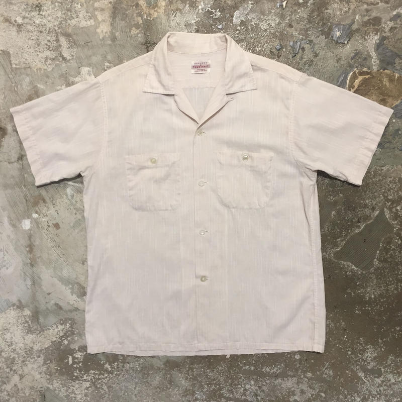 50's TOWNCRAFT Cotton Open Collar Shirt