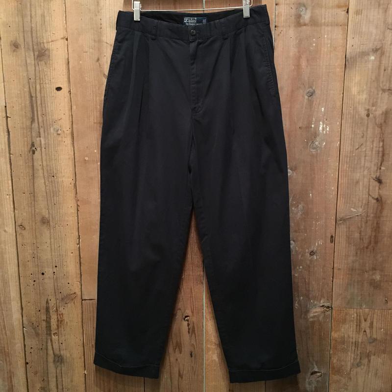 Polo Ralph Lauren Two Tuck Cotton Pants D.NAVY  W : 34