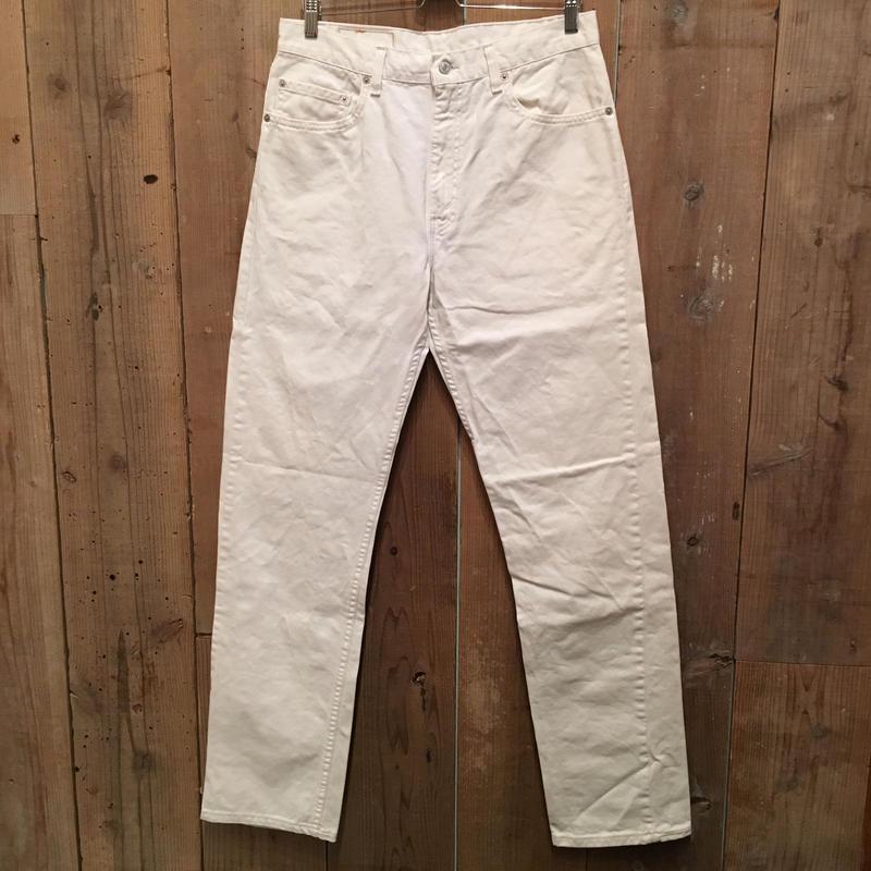 90's Levi's 505 WHITE Denim Pants W : 34