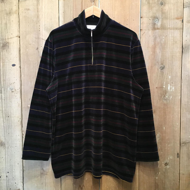 JONES NEW YORK Half Zip Velour Shirt
