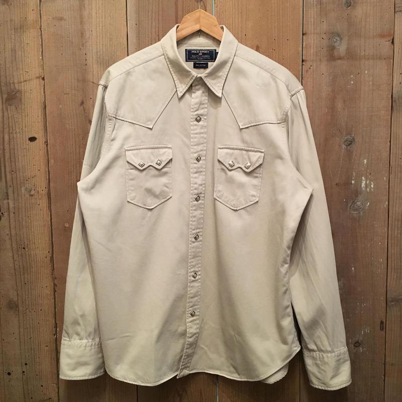 90's POLO SPORT Ralph Lauren Cotton Western Shirt