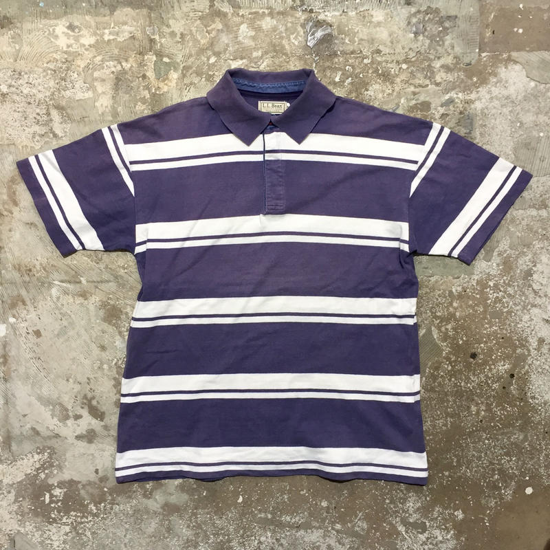 ~90's  L.L.Bean Striped Polo Shirt