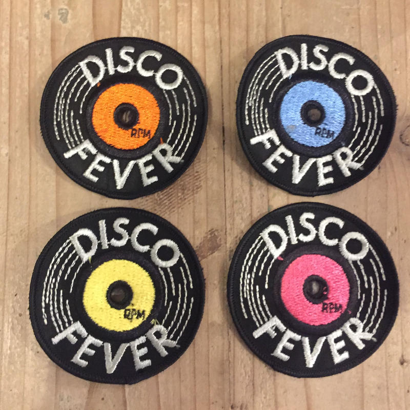 DISCO FEVER 70's Vintage Record Patch