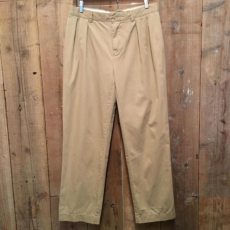 Polo Ralph Lauren Two Tuck Cotton Pants KHAKI  W : 33