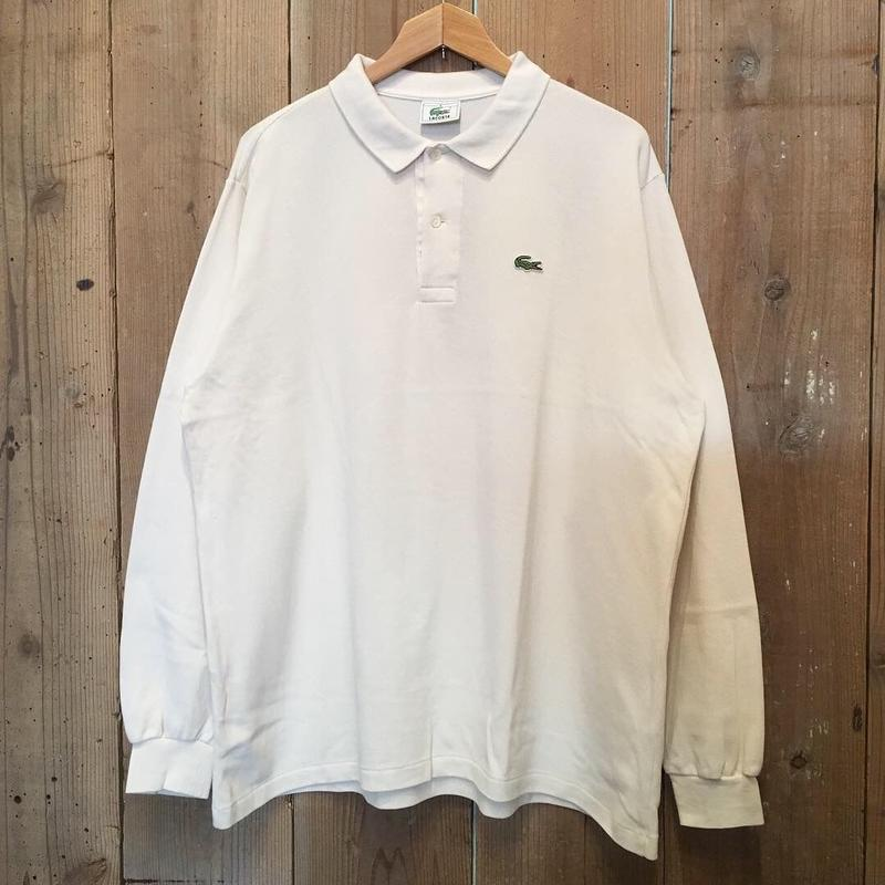 LACOSTE L/S Polo shirt WHITE