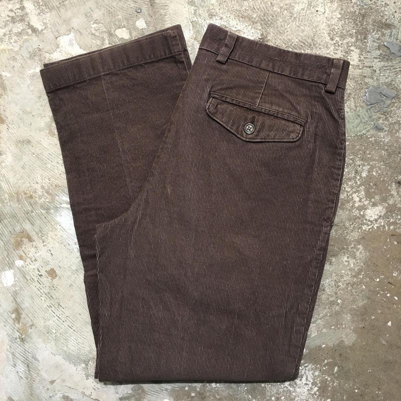 L.L.Bean Corduroy Pants BROWN W : 33