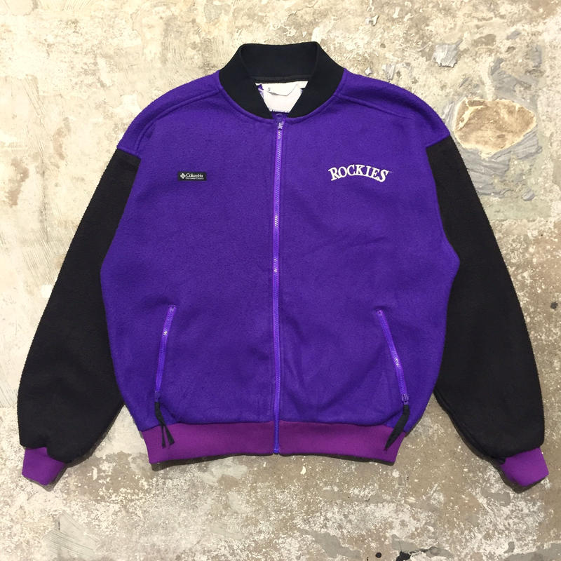 90's Columbia Fleece Jacket PURPLE×BLACK