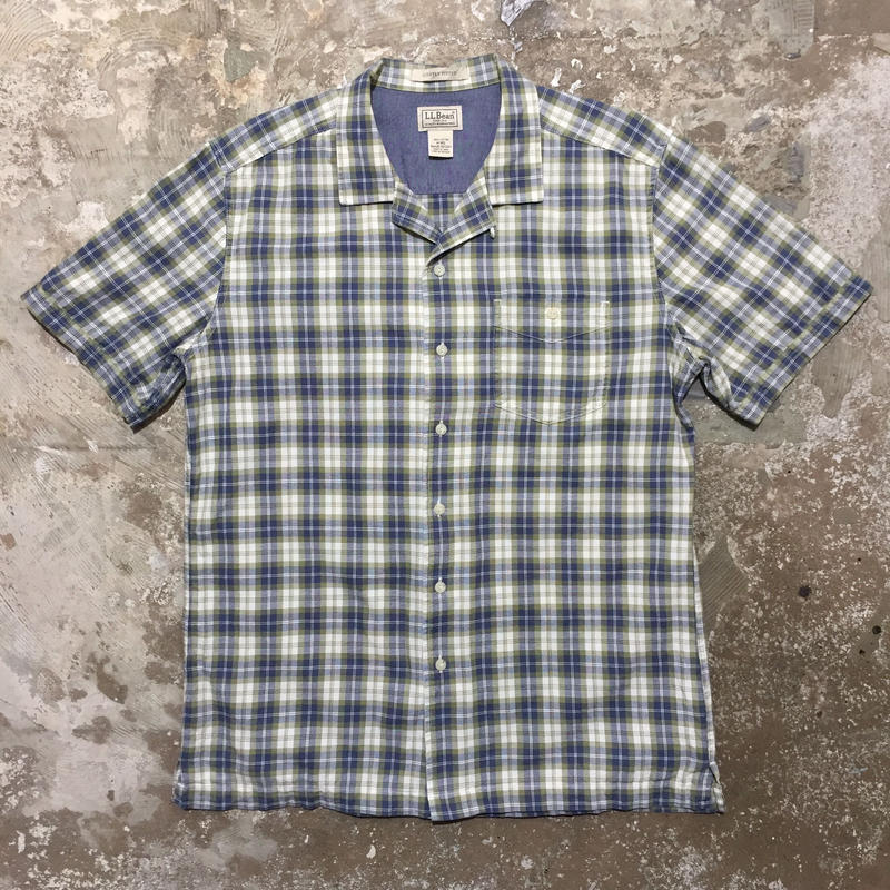 L.L.Bean Cotton Open Collar Shirt