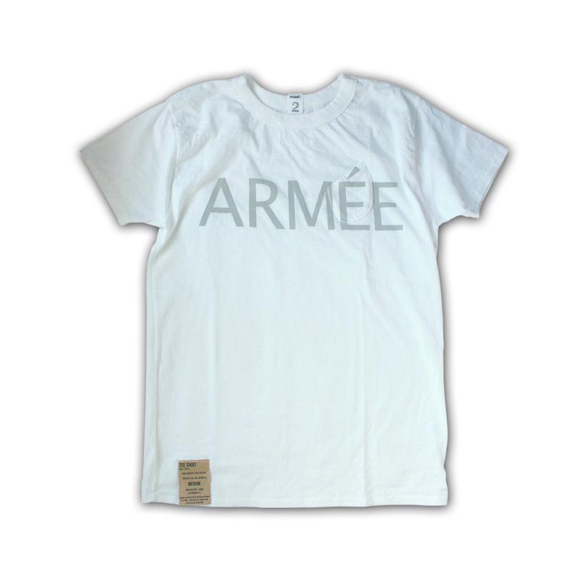 SHORT SLEEVE TEE SHIRT with ARMEE PRINT WHITE COLOUR