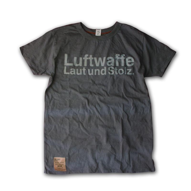 SHORT SLEEVE TEE SHIRT with Luftwaffe PRINT SHARK COLOUR