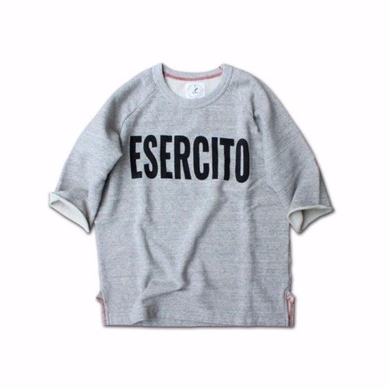 HALF SLEEVE PRINT SWEAT SHIRT ESERCITO GRAY
