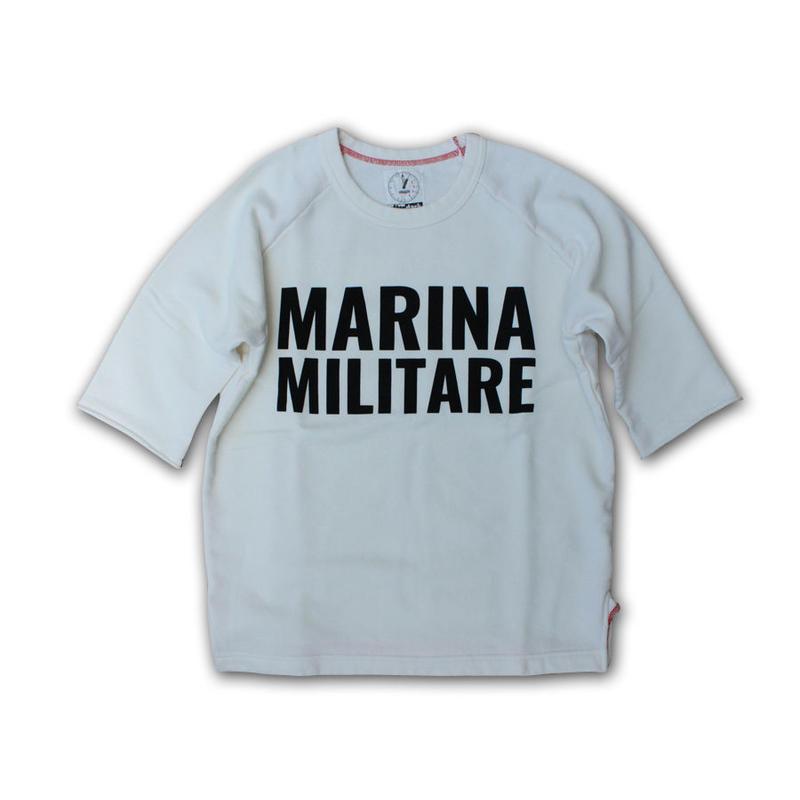 HALF SLEEVE PRINT SWEAT SHIRT MARINA MILITARE VINTAGE WHITE