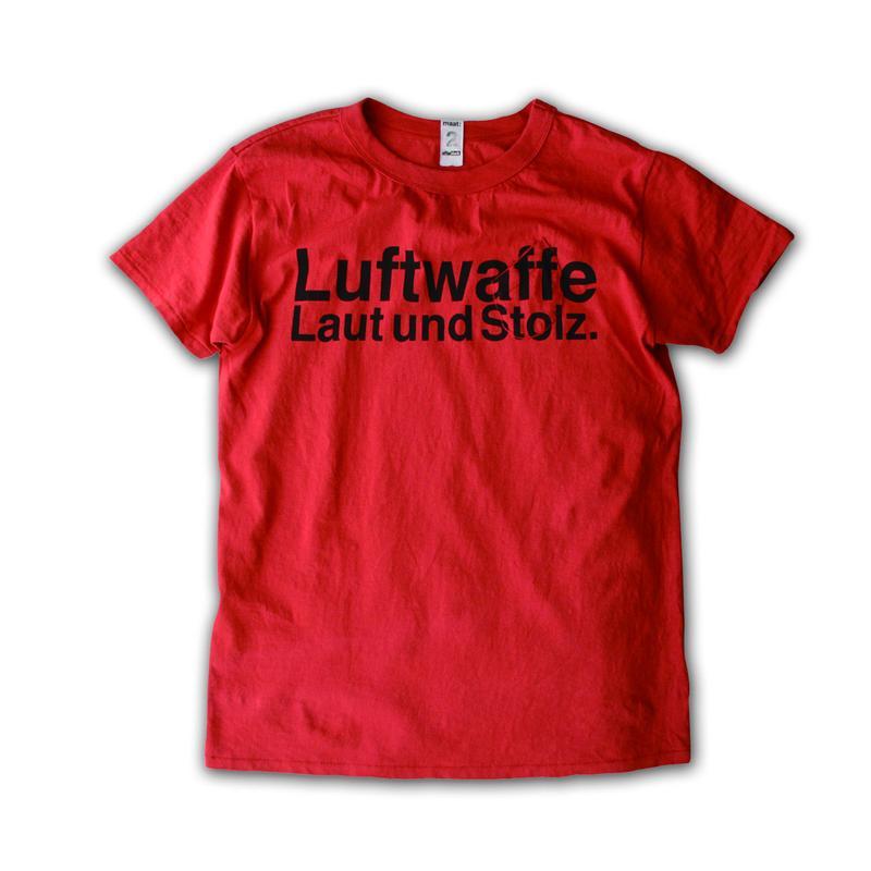SHORT SLEEVE TEE SHIRT with Luftwaffe PRINT BRICK COLOUR
