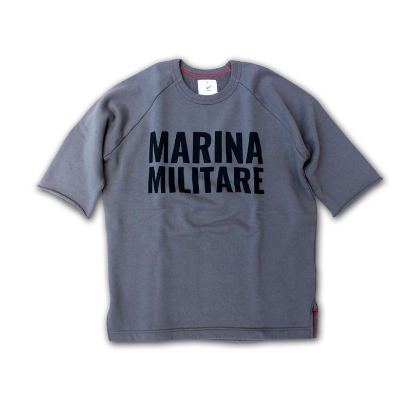 HALF SLEEVE PRINT SWEAT SHIRT MARINA MILITARE ARMY GREEN