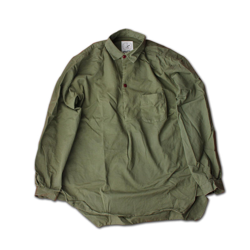 """LONG SLEEVE PULLOVER SHIRT """"STOCKHOLM""""  ARMY GREEN"""