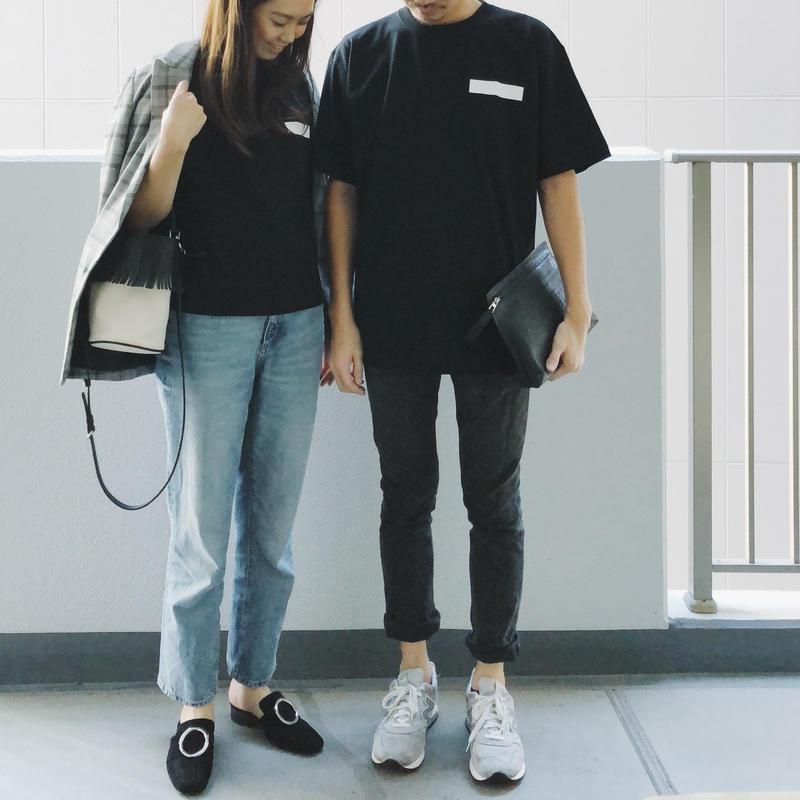 ボックスプリントメンズTシャツ