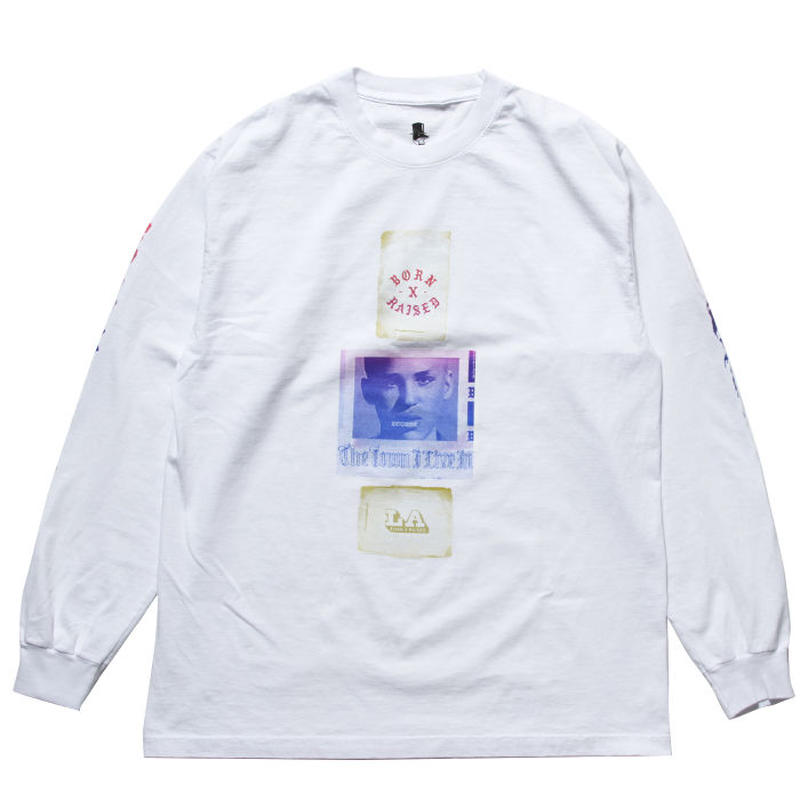 BORN X RAISED - EUGENE L/S TEE (ホワイト)