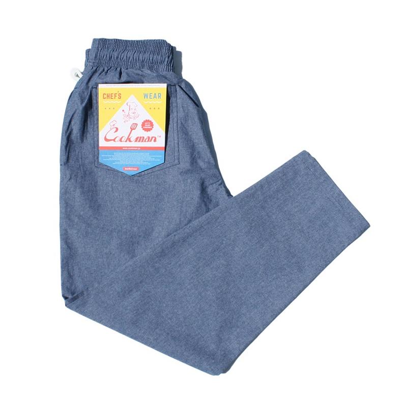 COOK WEAR - Chef Pants 「シャンブレー」 ブルー