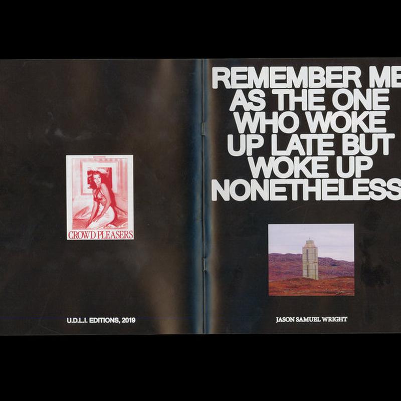UDLI Editions - REMEMBER ME... ZINE