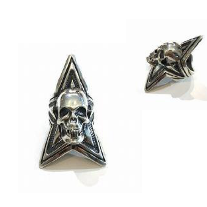 Ring Large Skull Star