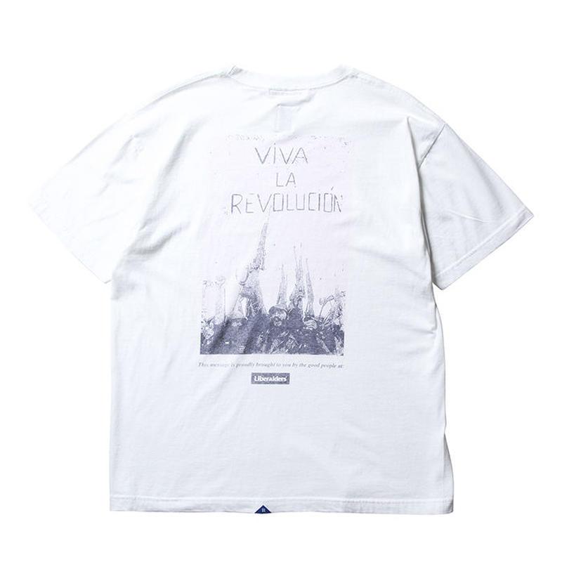 LIBERAIDERS - VIVA LA REVOLUCION TEE  (ホワイト)
