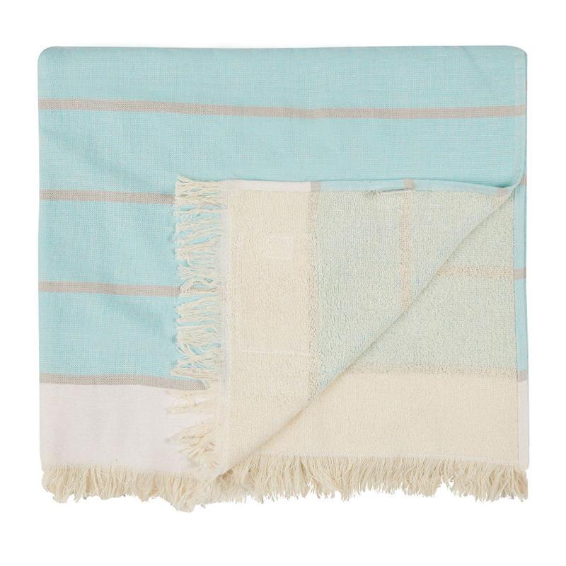 MAYDE - COTTESLOE TOWEL - MINT/ GREY