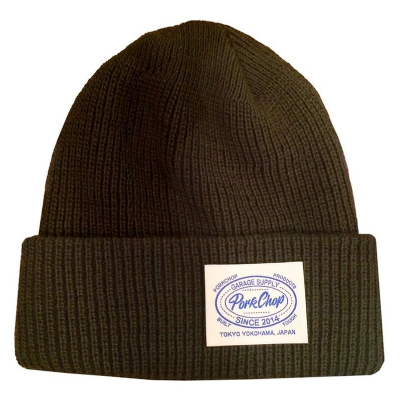 PORKCHOP - KNIT CAP (オリーブ)