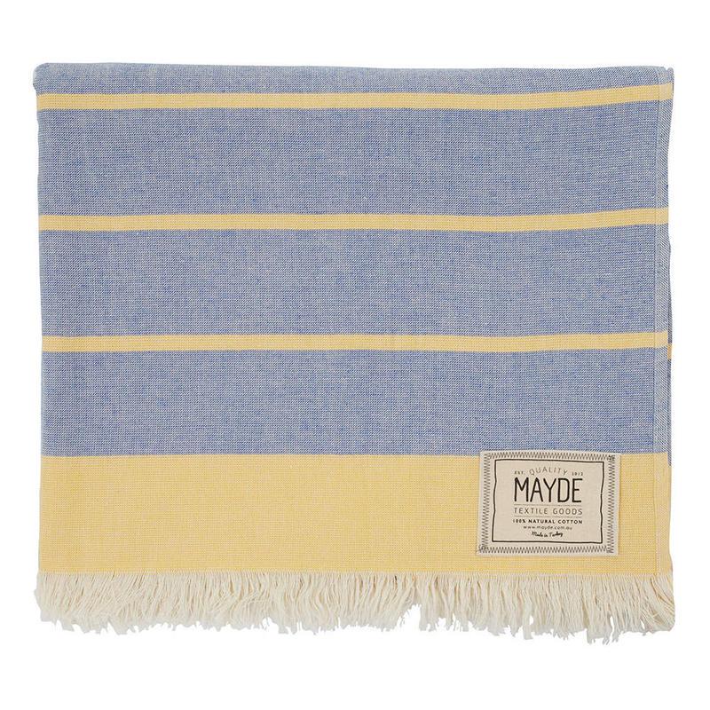 MAYDE - COTTESLOE TOWEL - DENIM / MUSTARD