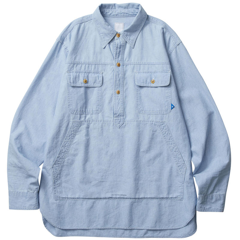 LIBERAIDERS - PULLOVER CHAMBRAY SHIRT (ハードウォッシュ)