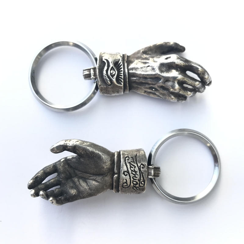 Shake Hands Keyring - Silver(シルバー製) (Made by vitriol)