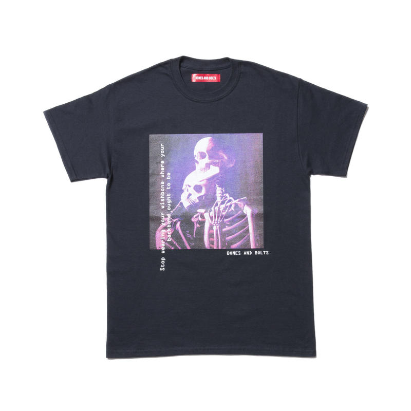 BONES AND BOLTS - TEE (BACKBONE)  ブラック
