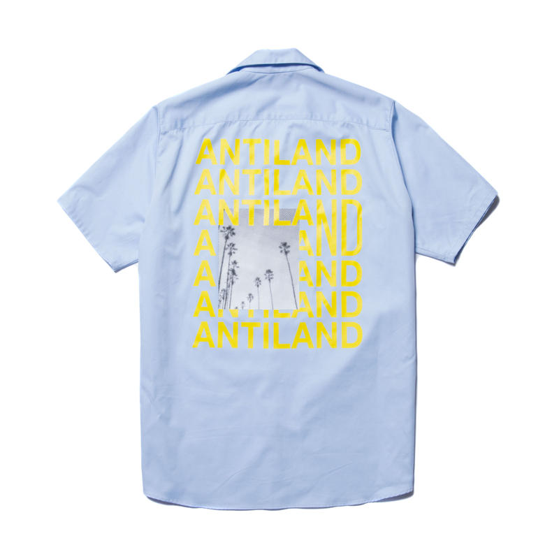 BONES AND BOLTS - WORK S/S SHIRT (ANTILAND) サックス