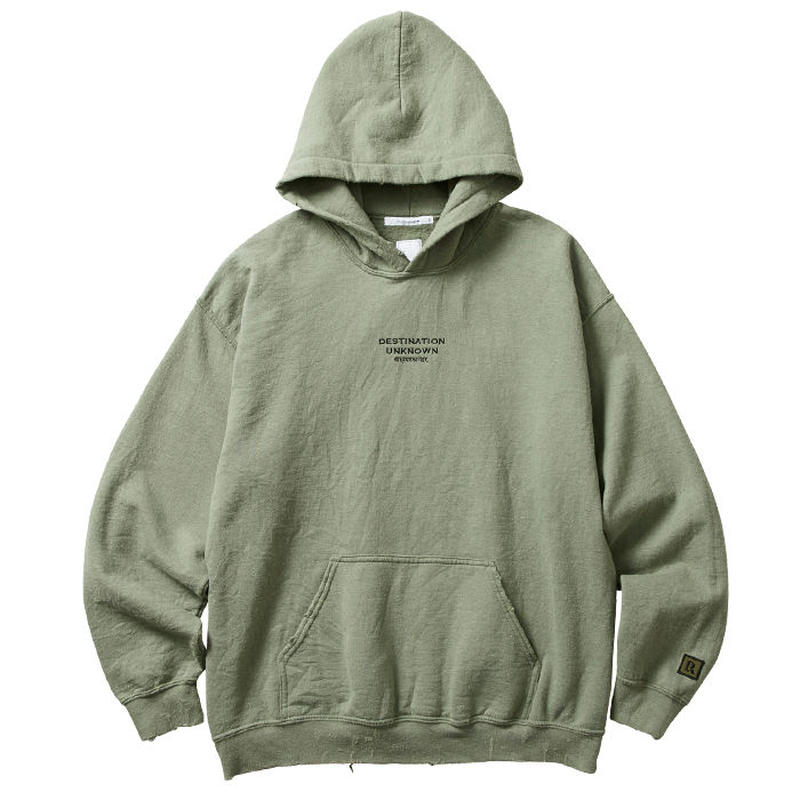 LIBERAIDERS - EMBROIDERY PULLOVER HOODIE (オリーブ)