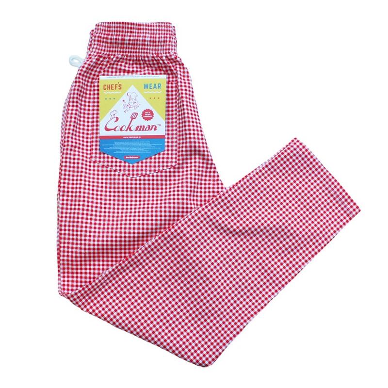COOK WEAR - Chef Pants「ギンガム」 レッド