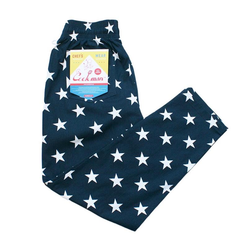 COOK WEAR -  Chef Pants 「スター」 ネイビー