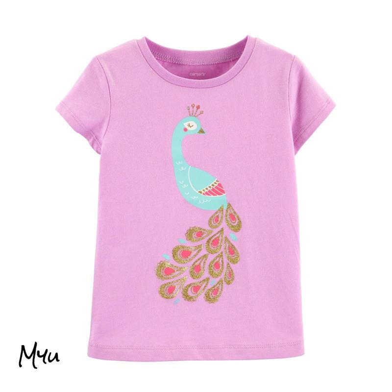 受注発注【95〜120cm】carter's Glitter peacock jersey T-shirt