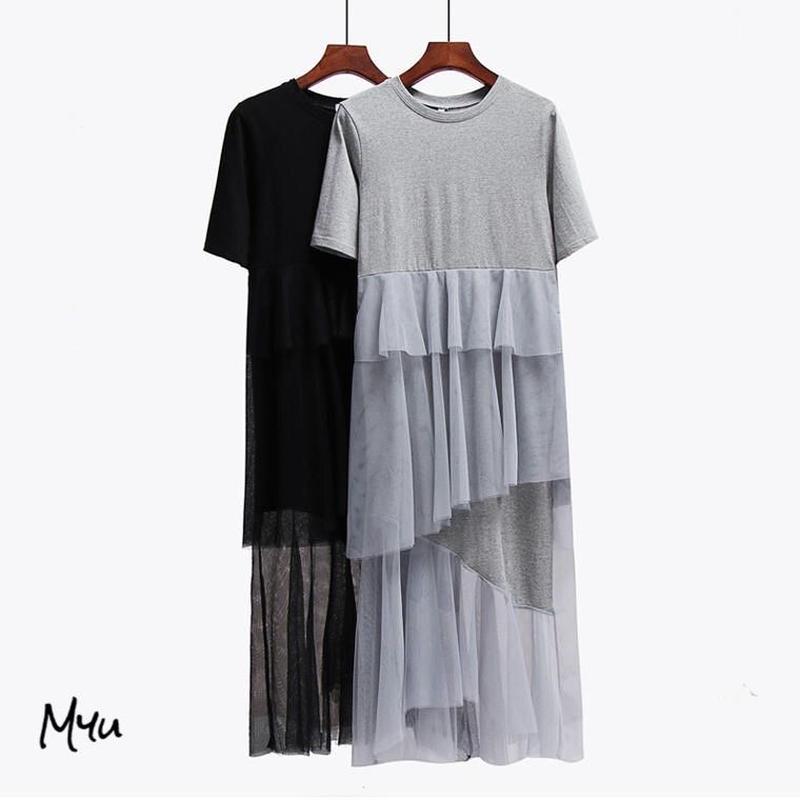 受注発注【LADIES】Tulle docking dress
