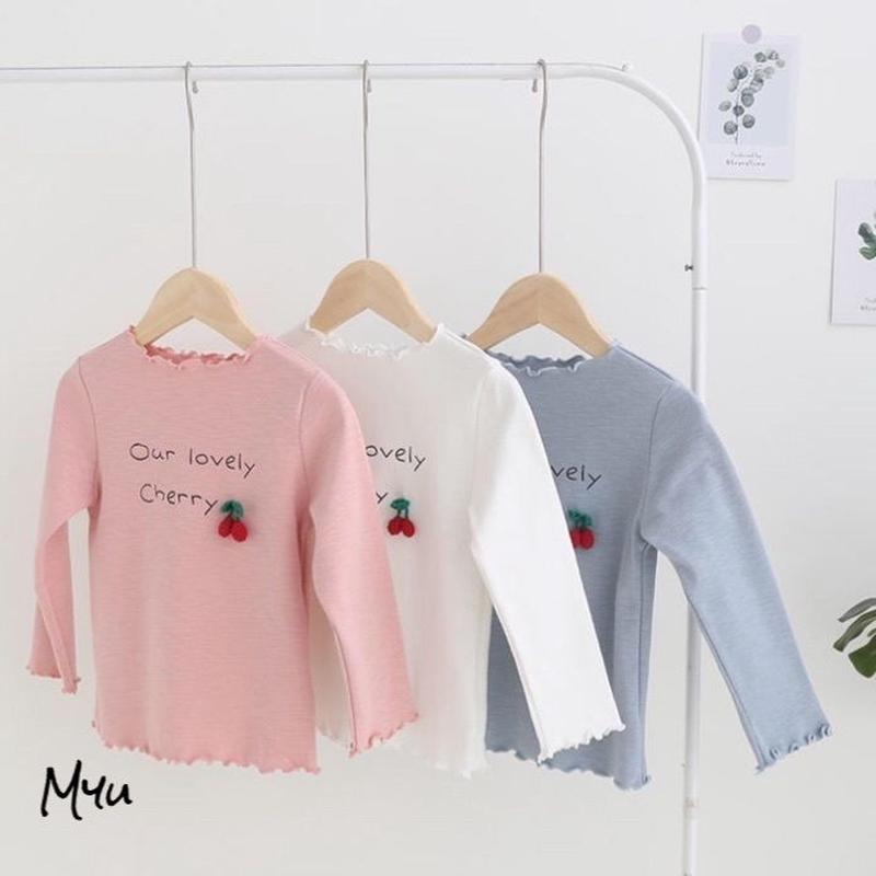 【100〜130cm】Cherry long T-shirt